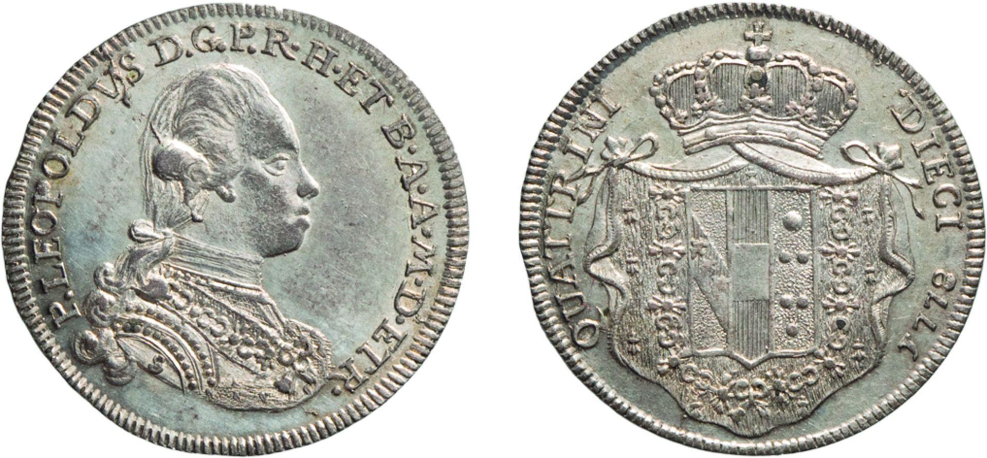 Los 378 - ZECCHE ITALIANE. FIRENZE. PIETRO LEOPOLDO (1765-1790). 10 QUATTRINI 1778