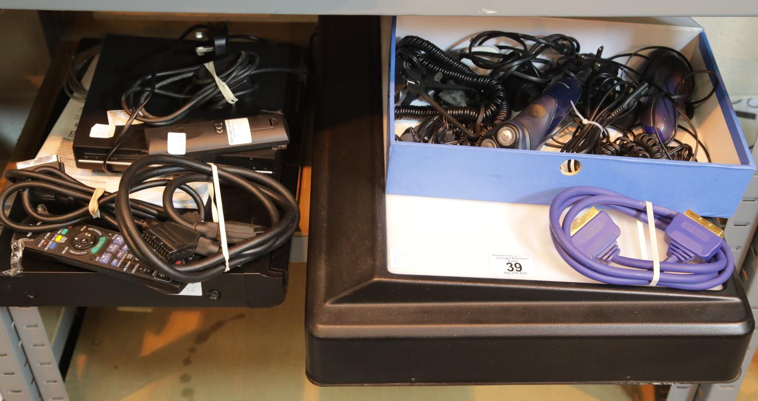 Lot 39 - Panasonic DVD EZ27EB with leads, remote control, Formula A3 light box on light up screen, electric