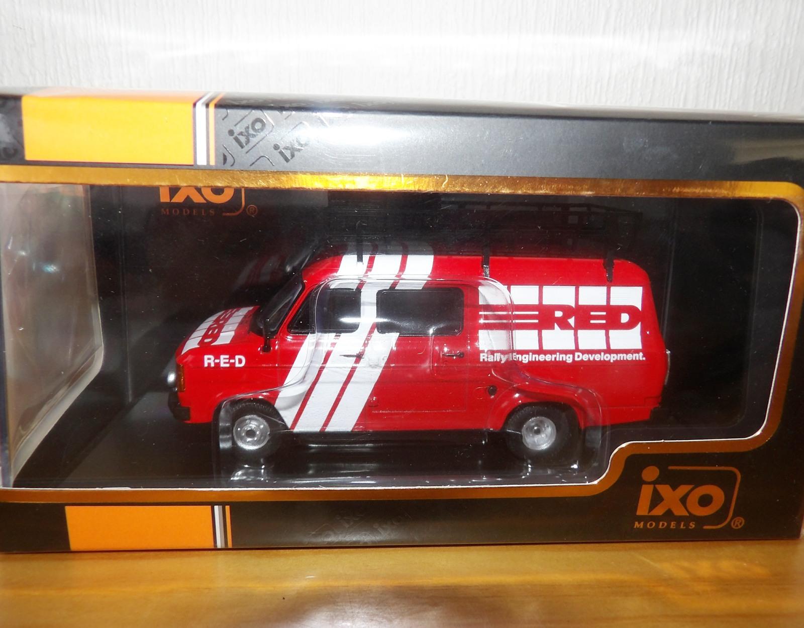 Lot 714 - 1.43 Scale IXO Ford Transit MK11 1985 Rally Engineering Development Van. P&P Group 1 (£14+VAT for