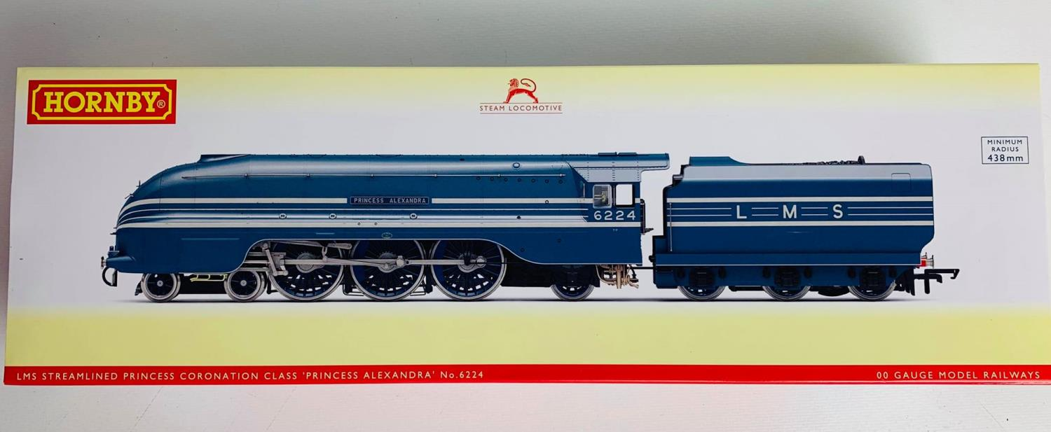 Lot 657 - Hornby OO Gauge R3715 LMS Streamlined Princess Alexandra Loco 6224 Boxed.P&P Group 1 (£14+VAT for