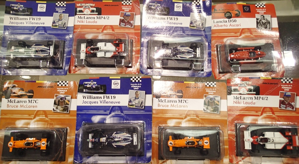 Lot 702 - 1.43 Scale x8 Bubble Carded Formula 1 Mixed Years Racing Cars. P&P Group 1 (£14+VAT for the first