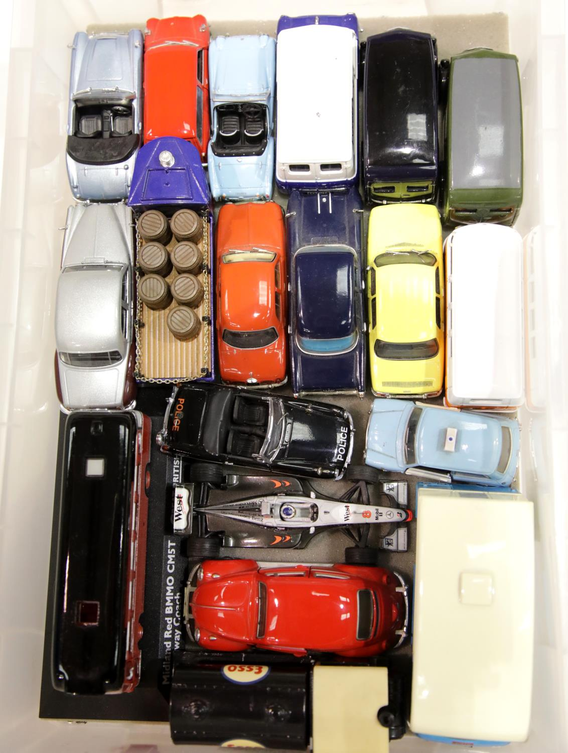 Lot 676 - Collection of assorted diecast vehicles to include Corgi, Vanguards, Matchbox etc, all unboxed. P&