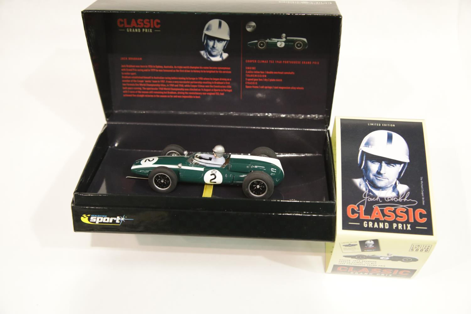 Lot 684 - Scalextric C2639A Cooper Climax 153 Jack Brabahm 1960 Goodwill Revival meeting. P&P Group 1 (£14+VAT