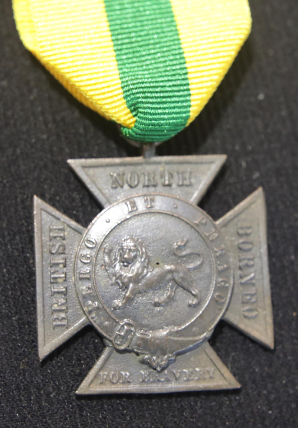 Lot 476 - British North Borneo Bravery cross, not named, in bronze. P&P Group 1 (£14+VAT for the first lot and