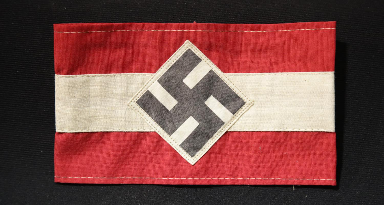 Lot 238 - German WWII style Hitler Youth armband. P&P Group 1 (£14+VAT for the first lot and £1+VAT for