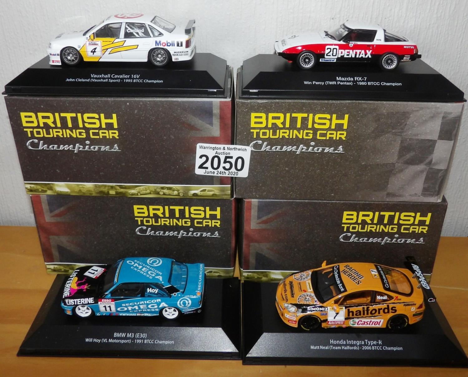 Lot 2050 - Atlas Collections x 4 1.43 Scale British Touring Cars No?s 102, 104, 111, 112. P&P Group 2 (£18+