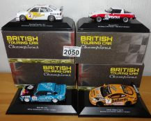 Atlas Collections x 4 1.43 Scale British Touring Cars No?s 102, 104, 111, 112. P&P Group 2 (£18+