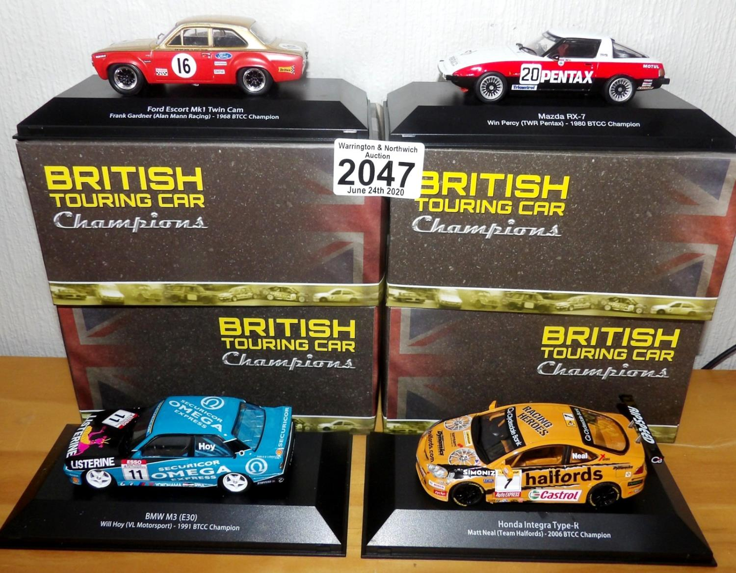 Lot 2047 - Atlas Collections x 4 1.43 Scale British Touring Cars No?s 101, 102, 111, 112. P&P Group 2 (£18+