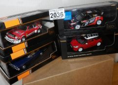 IXO X 4 1.43 Scale Mixed Race/Rally/Saloon cars. P&P Group 2 (£18+VAT for the first lot and £2+VAT