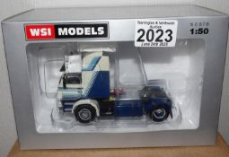 WSI 1.50 Scale Scania 3 4 x 2 Tractor Unit DUVECO Livery. P&P Group 1 (£14+VAT for the first lot and
