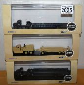 Oxford 1.76 Scale x 3 Military Vehicles 2 Bedford RAF Queen Mary and Tank Transporter. P&P Group