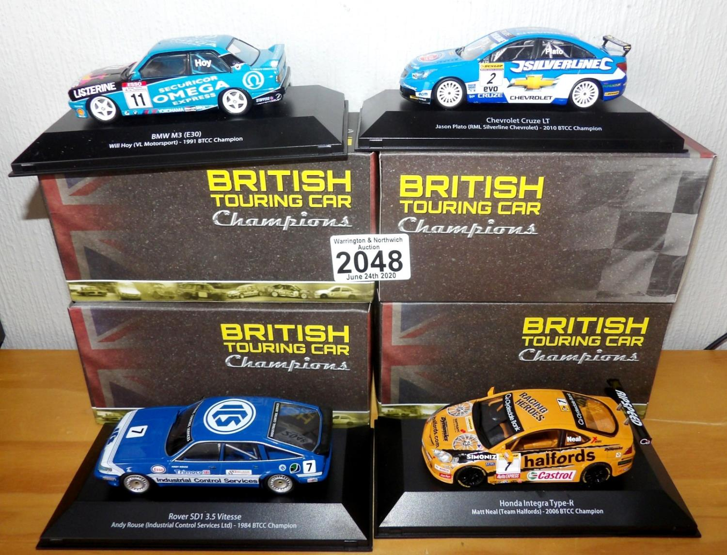 Lot 2048 - Atlas Collections x 4 1.43 Scale British Touring Cars No?s 102, 103, 106, 112. P&P Group 2 (£18+