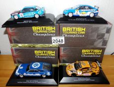 Atlas Collections x 4 1.43 Scale British Touring Cars No?s 102, 103, 106, 112. P&P Group 2 (£18+