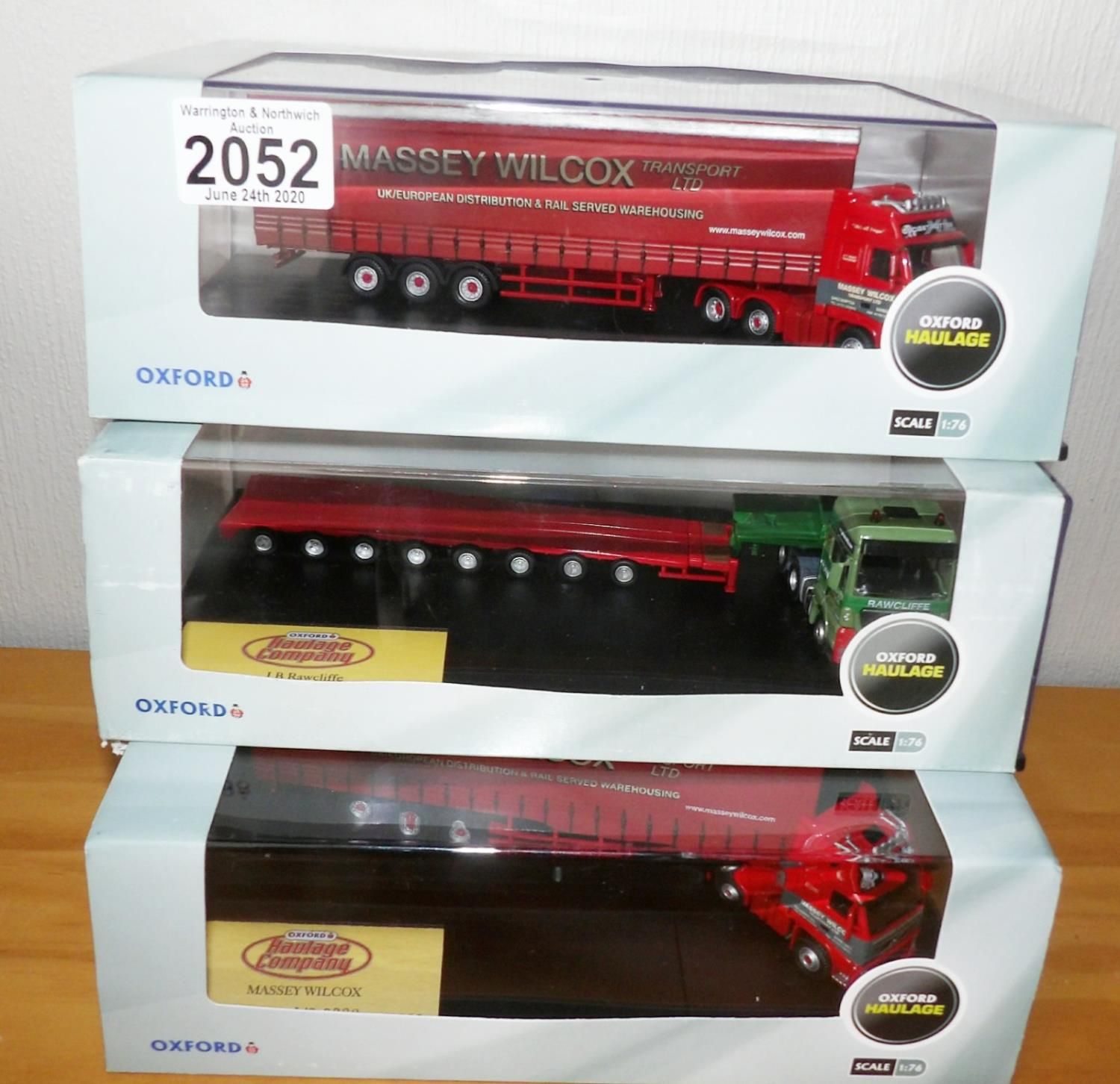 Lot 2052 - Oxford Haulage 1.76 x 3 Rawcliffe + 2 x Massey Wilcox Ltd Editions. P&P Group 2 (£18+VAT for the