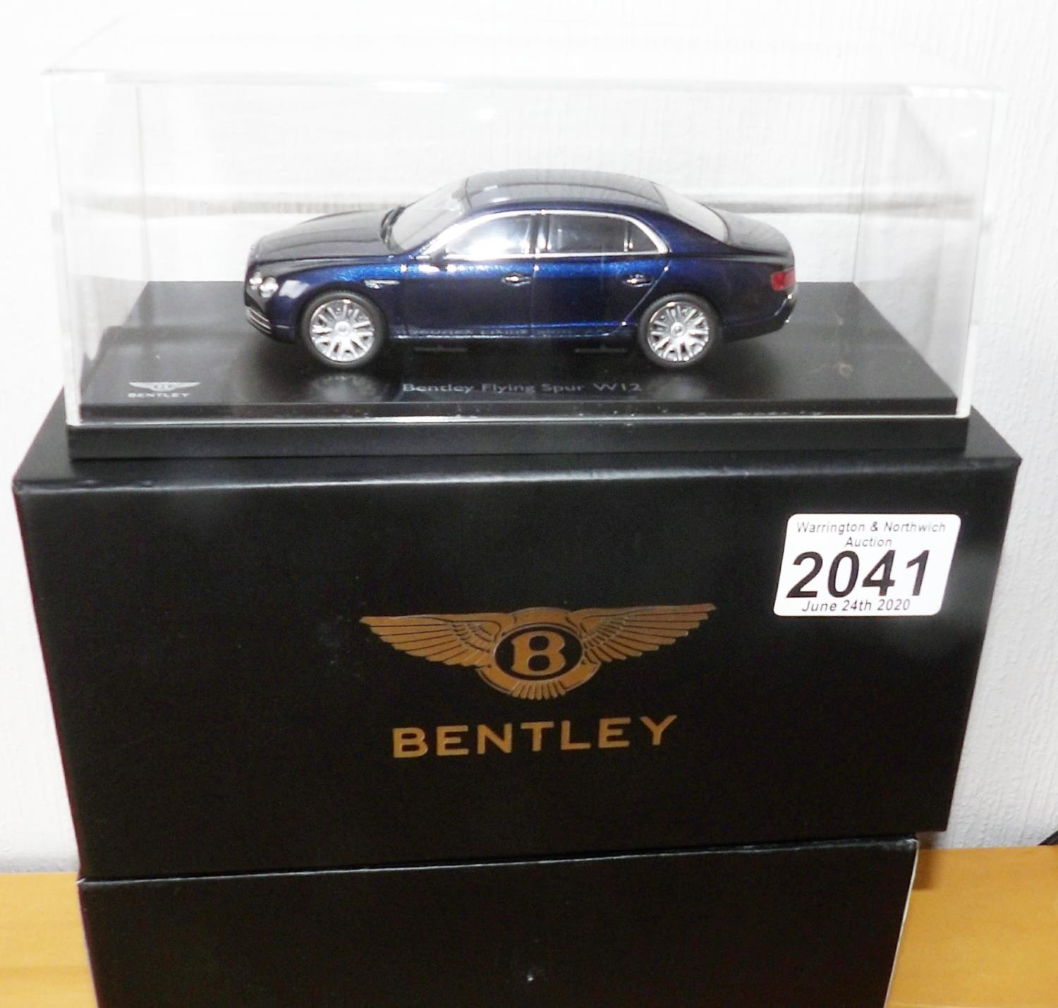 Lot 2041 - KYOSHO 1.43 Scale BENTLEY Flying Spur W12 (Peacock). P&P Group 1 (£14+VAT for the first lot and £1+