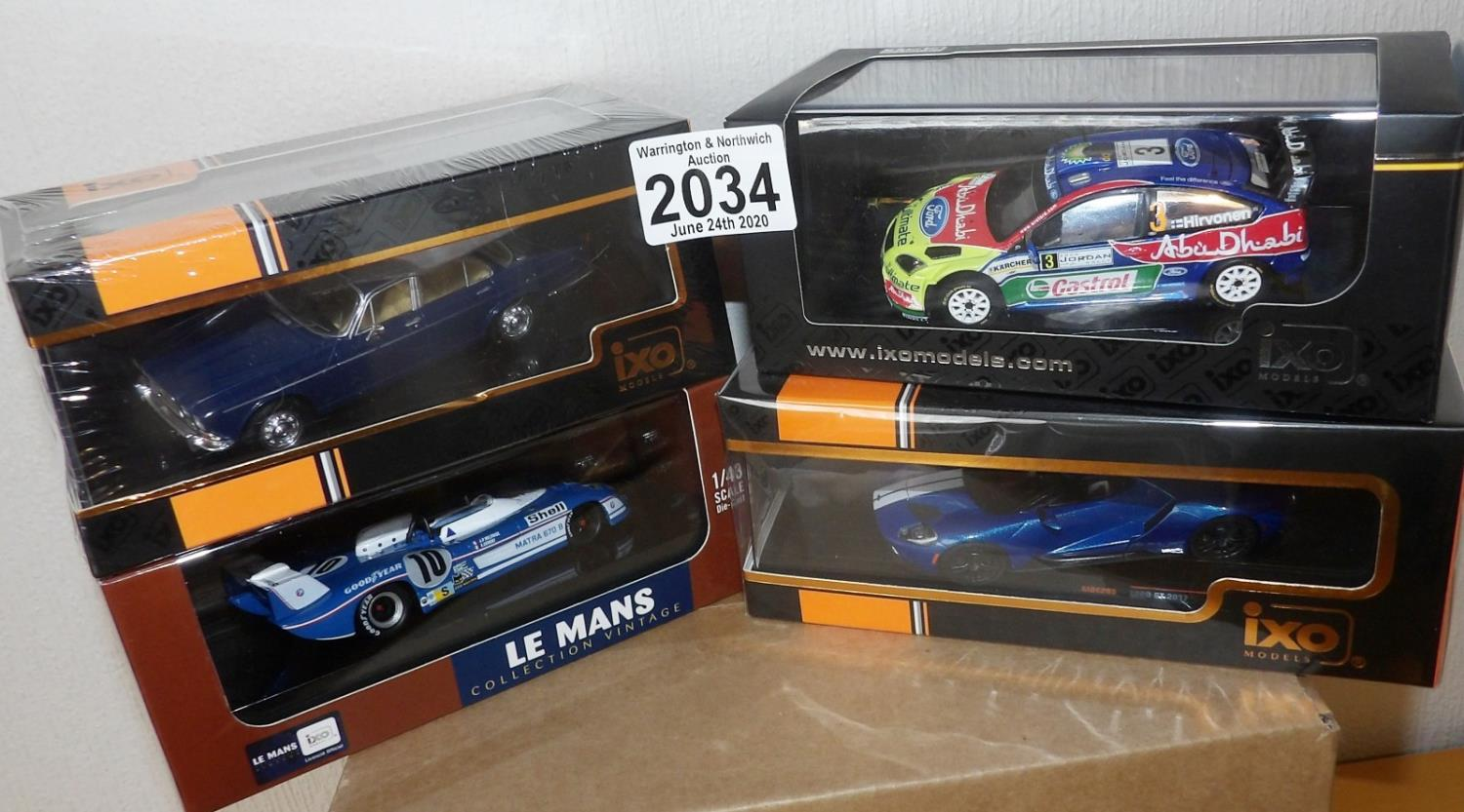 Lot 2034 - IXO X 4 1.43 Scale Mixed Race/Rally/Saloon cars. P&P Group 2 (£18+VAT for the first lot and £2+VAT