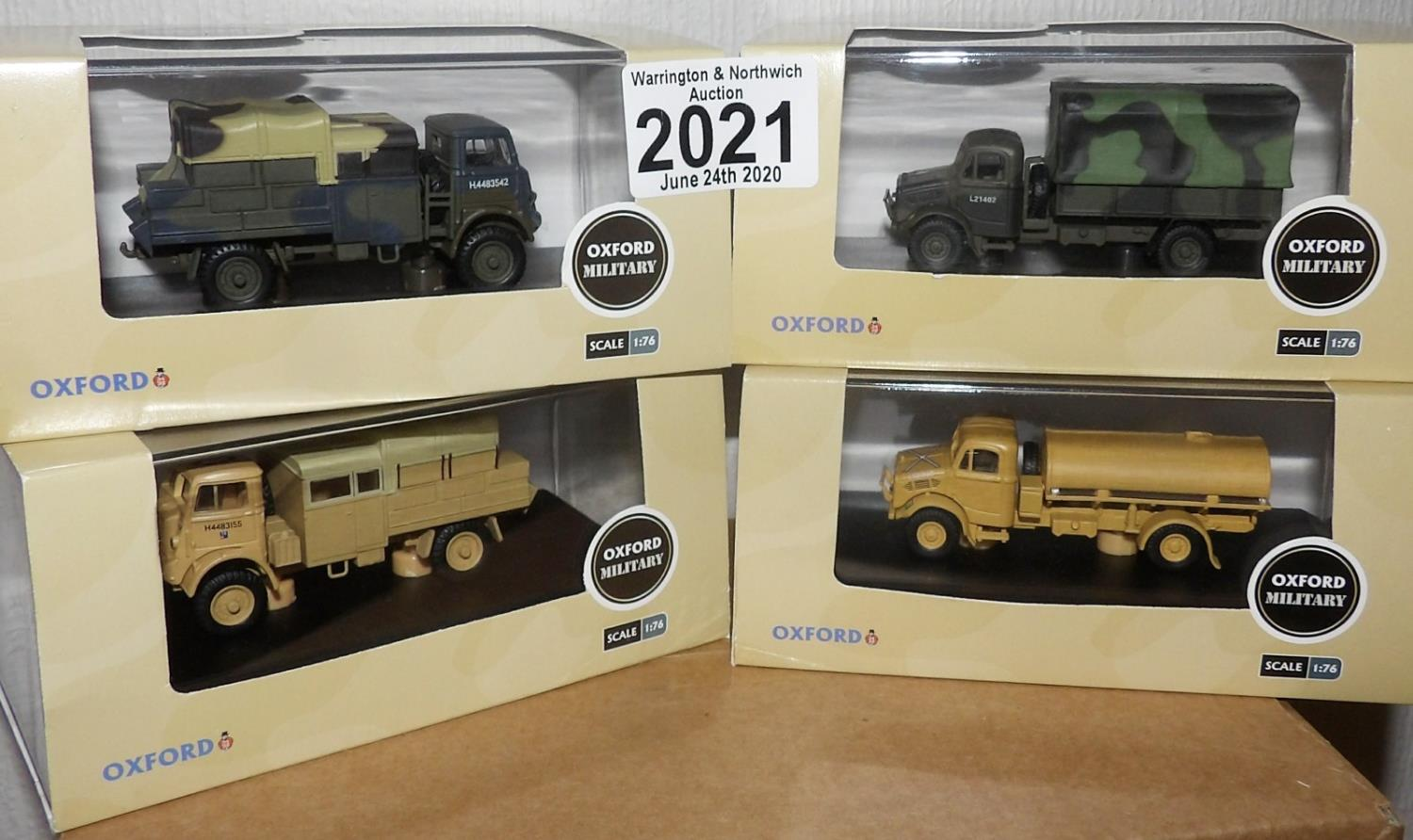 Lot 2021 - Oxford 1.76 Scale x 4 Mixed Military Vehicles. P&P Group 2 (£18+VAT for the first lot and £2+VAT for