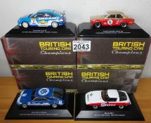Atlas Collection x 4 1.43 Scale British Touring Cars No?s 101, 103, 106, 111. P&P Group 2 (£18+VAT
