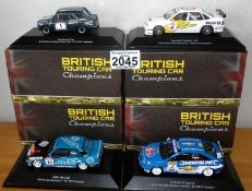 Atlas Collections x 4 1.43 Scale British Touring Cars No?s 101, 103, 104, 107. P&P Group 2 (£18+