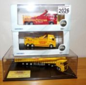 Oxford 1.76 x 3 2 x Recovery Vehicles and DAF Jack Richards Haulage Ltd Edition. P&P Group 2 (£18+