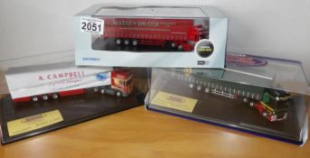 Oxford Haulage 1.76 x 3 Massey Wilcox, Mallinson, Campbell Ltd Editions. P&P Group 2 (£18+VAT for