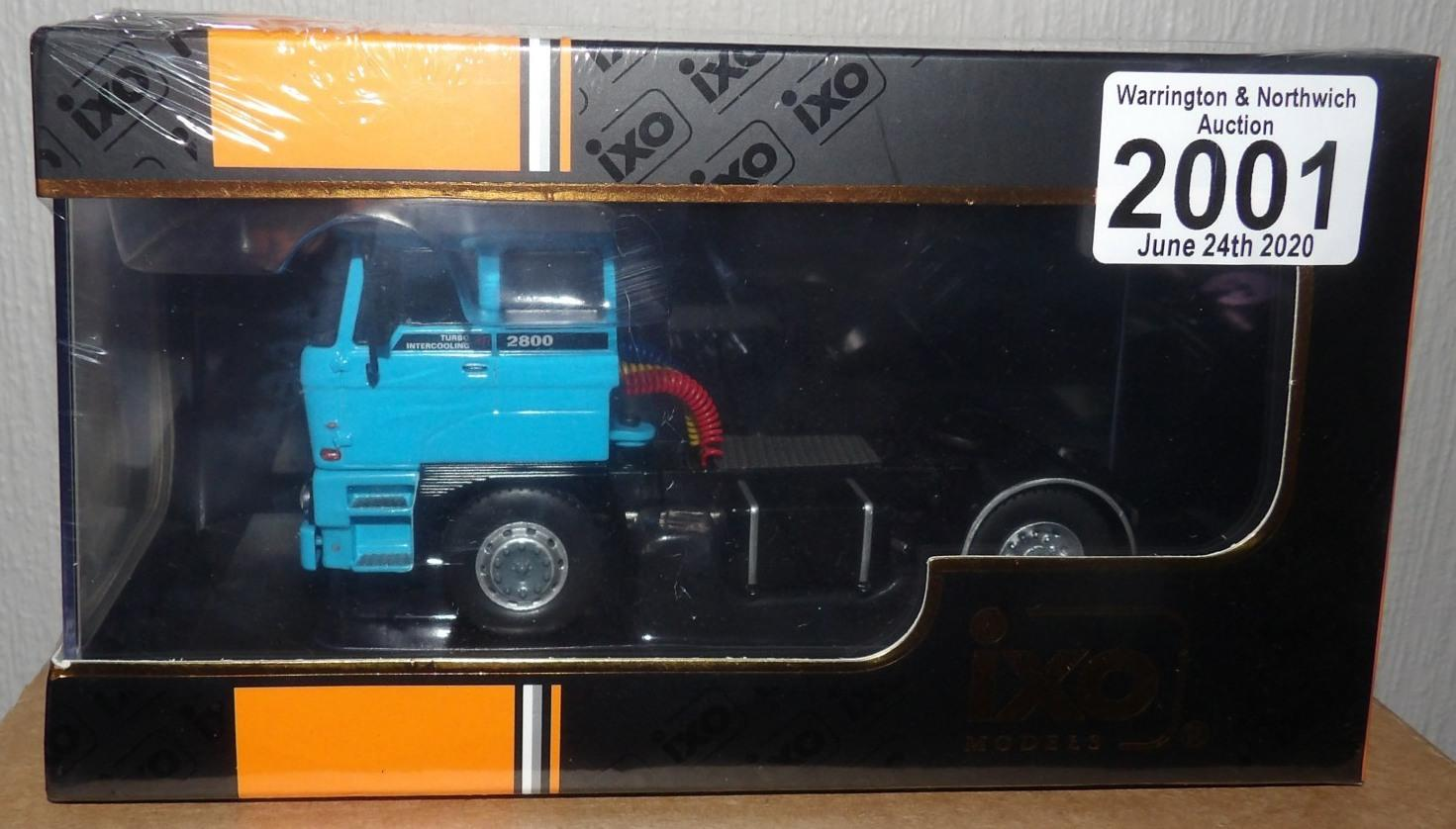 Lot 2001 - IXO 1.43 Scale DAF 2800 1975 in light blue. P&P Group 1 (£14+VAT for the first lot and £1+VAT for