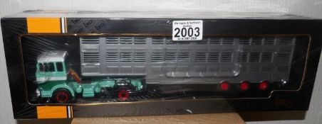 IXO 1.43 Scale Mercedes Benz LPS 1632 1970 Livestock Transporter. P&P Group 1 (£14+VAT for the first