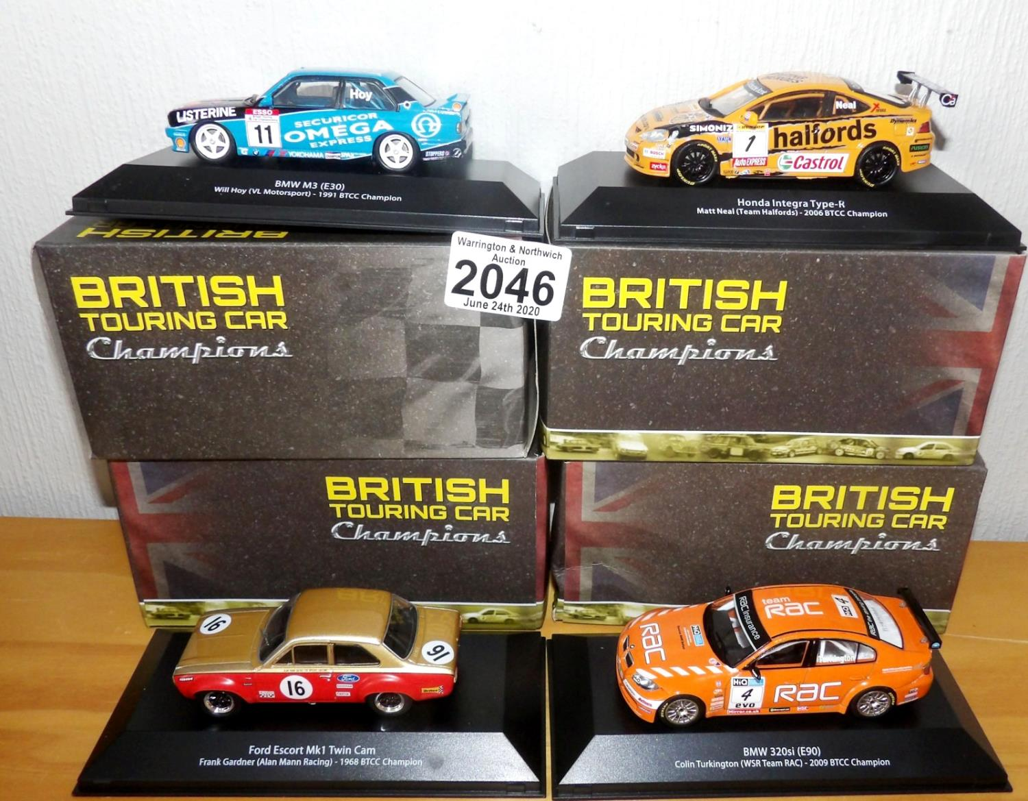 Lot 2046 - Atlas Collections x 4 1.43 Scale British Touring Cars No?s 101, 102, 108, 112. P&P Group 2 (£18+