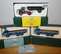 Corgi 1.50 Scale x 3 H.E. Musgrove Bedford + 2 x Tyson Burridge 6 wheel Albion Reivers. P&P Group
