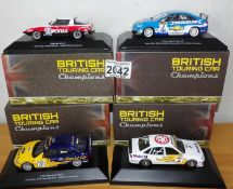 Atlas Collection x 4 1.43 British Touring Cars, No?s 103, 104, 109, 111. P&P Group 2 (£18+VAT for