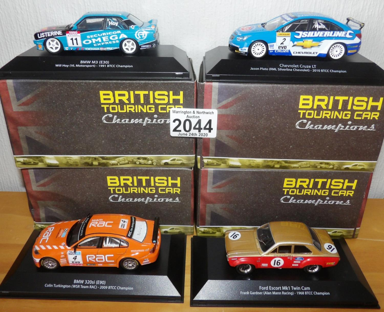 Lot 2044 - Atlas Collection x 4 1.43 Scale British Touring Cars No?s 101, 102, 103, 108. P&P Group 2 (£18+VAT