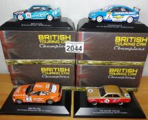 Atlas Collection x 4 1.43 Scale British Touring Cars No?s 101, 102, 103, 108. P&P Group 2 (£18+VAT