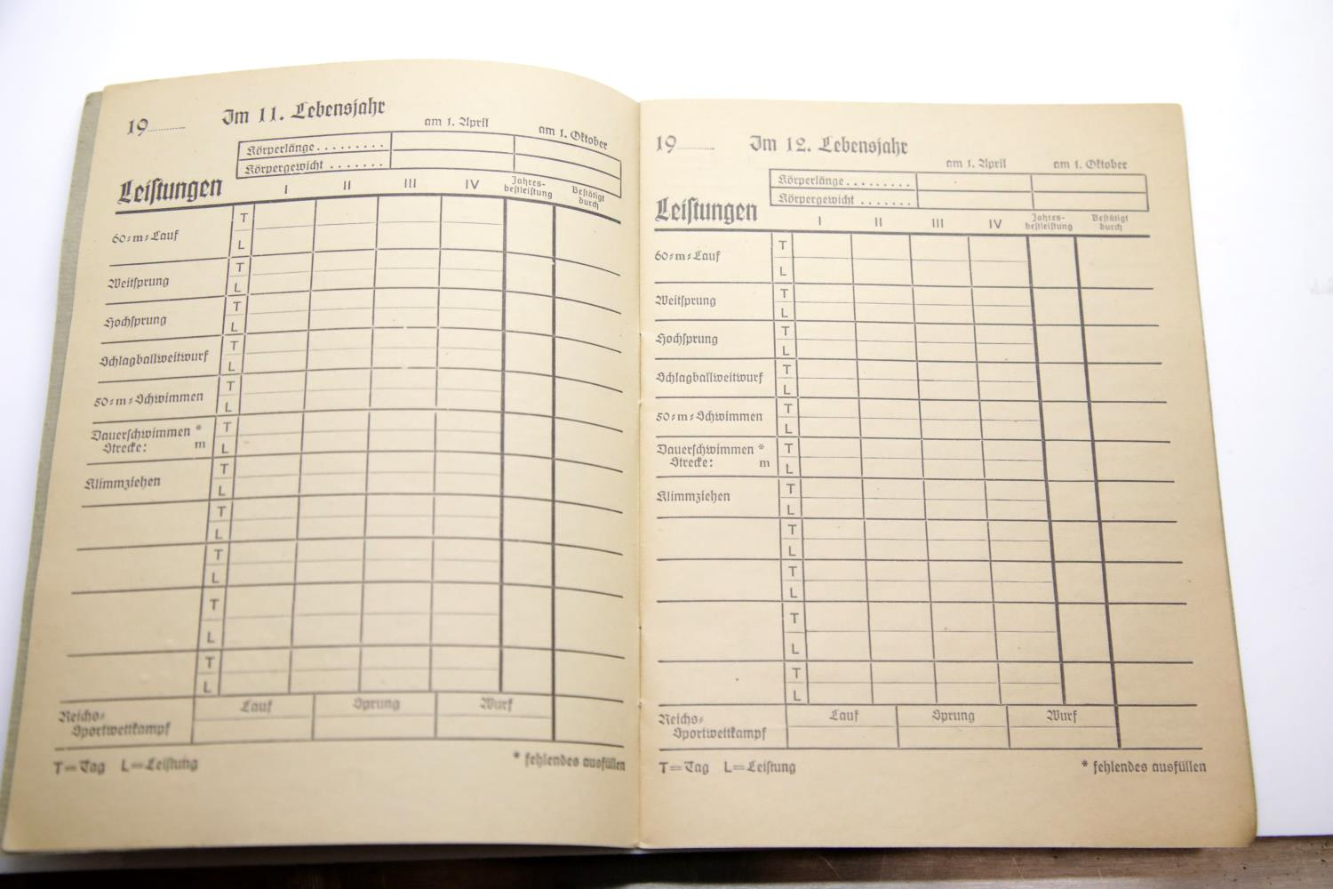 Lot 3043 - German Third Reich type Hitler Youth Sports Day book, unused. P&P Group 1 (£14+VAT for the first lot