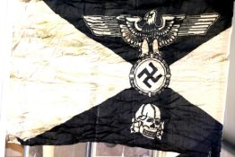 German SS type Panzer Division flag, 150 x 90 cm. P&P Group 1 (£14+VAT for the first lot and £1+