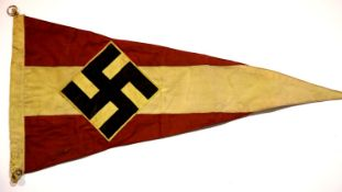 German Third Reich type Hitler Youth pennant, L: 56 cm. P&P Group 1 (£14+VAT for the first lot