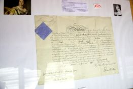 Victoria, a military commission signed by Queen Victoria upper-left, appointing Godlieb Arbuthnot