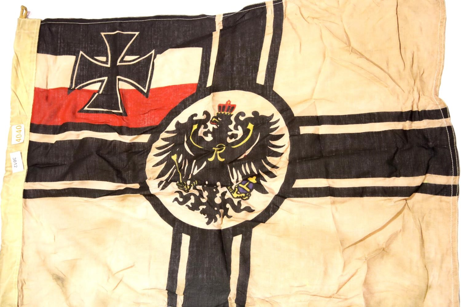 Lot 3012 - German Imperial WWI type flag, 90 x 60 cm. P&P Group 1 (£14+VAT for the first lot and £1+VAT for