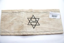 WWII type Jewish concentration camp Jood armband. P&P Group 1 (£14+VAT for the first lot and £1+