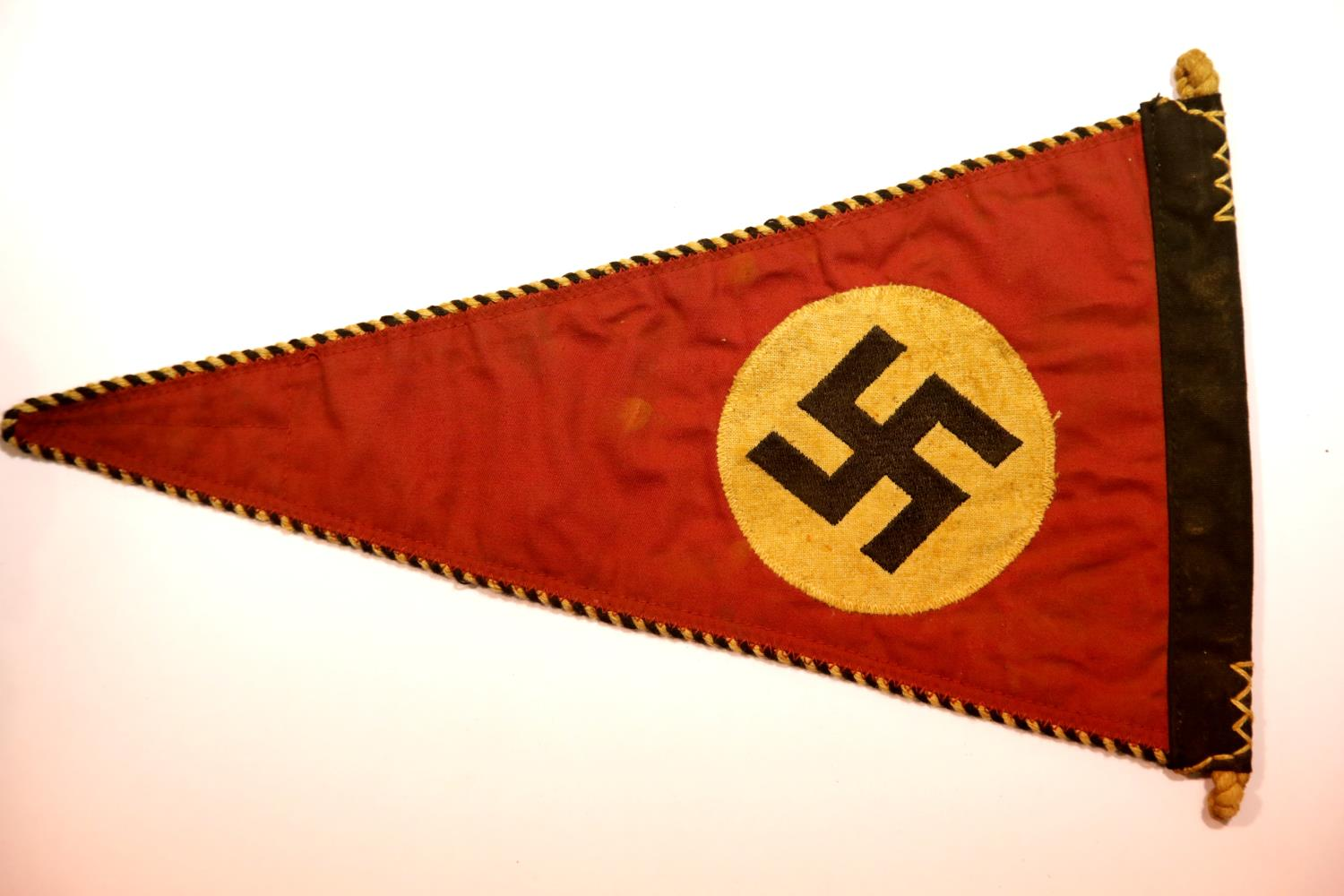 Lot 3018 - German WWII type party pennant, L: 32 cm. P&P Group 1 (£14+VAT for the first lot and £1+VAT for