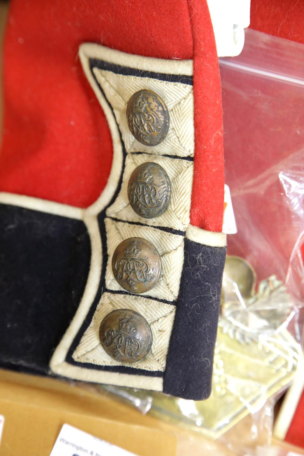 George V Grenadier Guards dress tunic with white belt lacking buckle, additional brass badges and - Image 5 of 5
