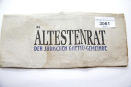 WWII type Jewish concentration camp armband. P&P Group 1 (£14+VAT for the first lot and £1+VAT for