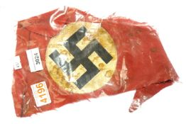 German WWII type Relic Fragment of Nazi Bunting. P&P Group 2 (£18+VAT for the first lot and £3+VAT
