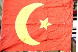 WW1 Style Ottoman (Turkish) Flag 118 x 80 cm. P&P Group 2 (£18+VAT for the first lot and £3+VAT