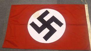 German Third Reich type flag marked München Sturmabteilung (SA) size 85 x 150 dated 1934. P&P