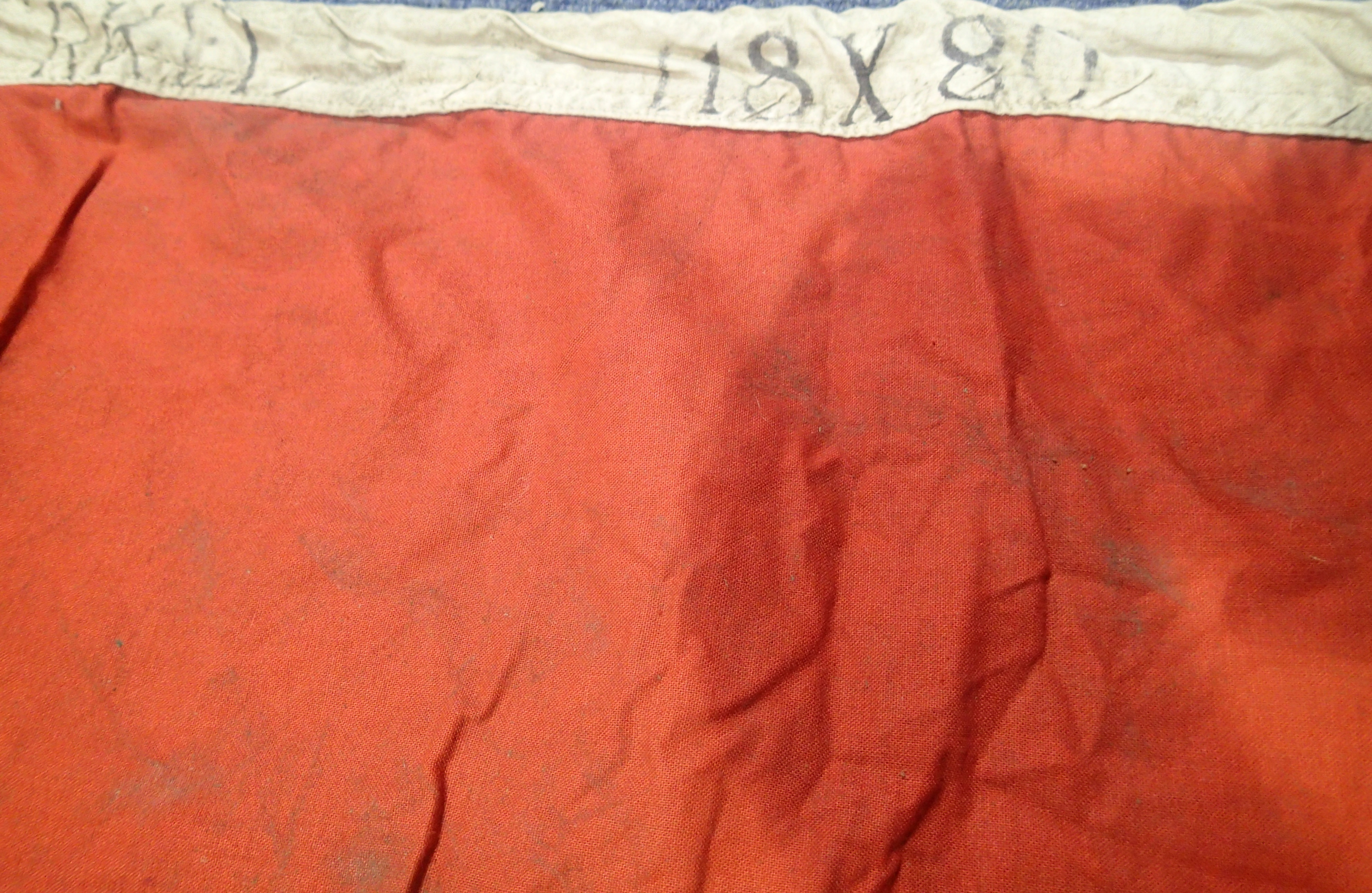 Lot 3006 - WW1 Style Ottoman (Turkish) Flag 118 x 80 cm. P&P Group 2 (£18+VAT for the first lot and £3+VAT