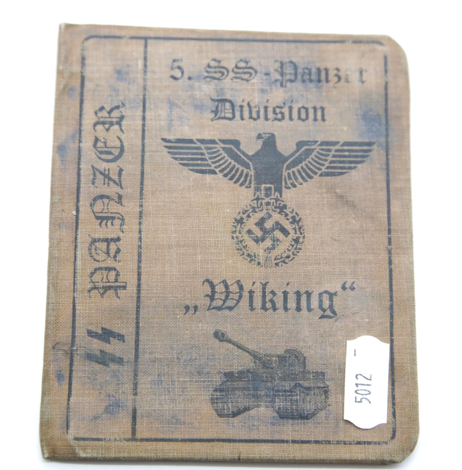 Lot 3045 - German SS type canvas bound identity book 'Wiking'. P&P Group 1 (£14+VAT for the first lot and £1+