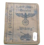 German SS type canvas bound identity book 'Wiking'. P&P Group 1 (£14+VAT for the first lot and £1+