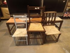 Six mixed chairs. Not available for in-house P&P.