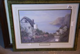 Two framed and glazed prints. Not available for in-house P&P