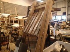 Tall wooden step ladder. Not available for in-house P&P.
